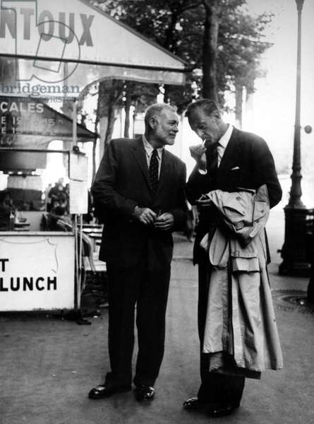 Ernest Hemingway & Gary Cooper in Paris, Sept.1950