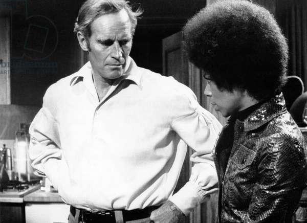 THE OMEGA MAN, Charlton Heston, Rosalind Cash, 1971