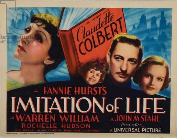 IMITATION OF LIFE, Claudette Colbert, Juanita Quigley (as Baby Jane), Warren William, Rochelle Hudson, 1934.