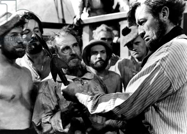 MOBY DICK, Harry Andrews, Gregory Peck, 1956