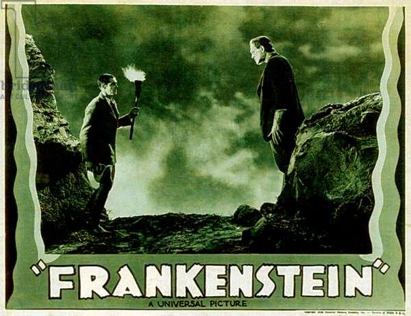 FRANKENSTEIN, from left: Colin Clive, Boris Karloff, 1931