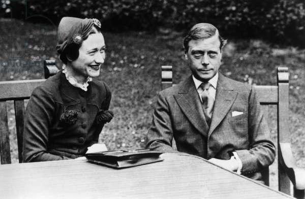 King Edward VIII, of England, with Wallis Simpson, 1936