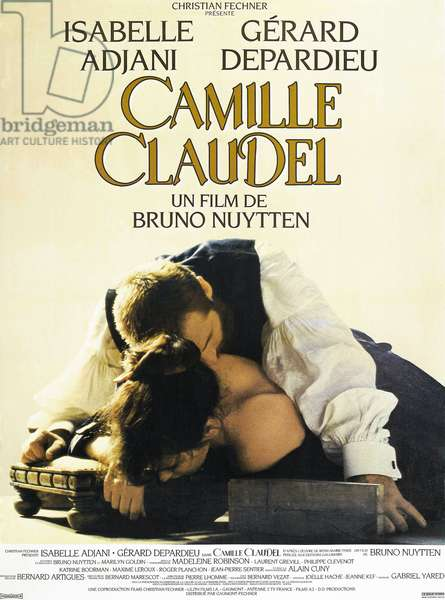 Camille Claudel: CAMILLE CLAUDEL, French poster art, Isabelle Adjani (bottom), as Camille Claudel, Gerard Depardieu as Auguste Rodin, 1988. ©Orion/courtesy Everett Collection