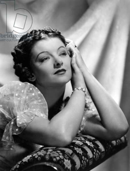 La vie privee du tribun: PARNELL, Myrna Loy, MGM photo by Clarence Sinclair Bull, 1937