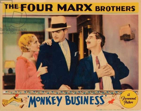 MONKEY BUSINESS, Thelma Todd, Harry Woods, Groucho Marx, 1931