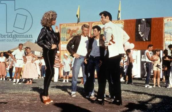 GREASE, Olivia Newton-John, Kelly Ward, Michael Tucci, John Travolta, 1978. © Paramount Pictures/ Courtesy: Everett Collection