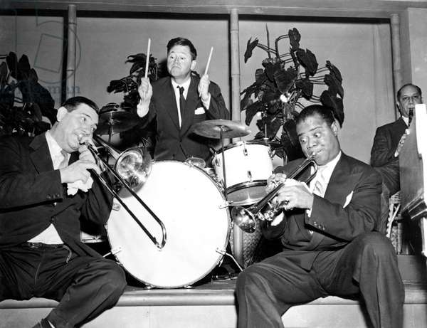 THE STRIP, Jack Teagarden, Mickey Rooney, Louis Armstrong, Barney Bigard, 1951