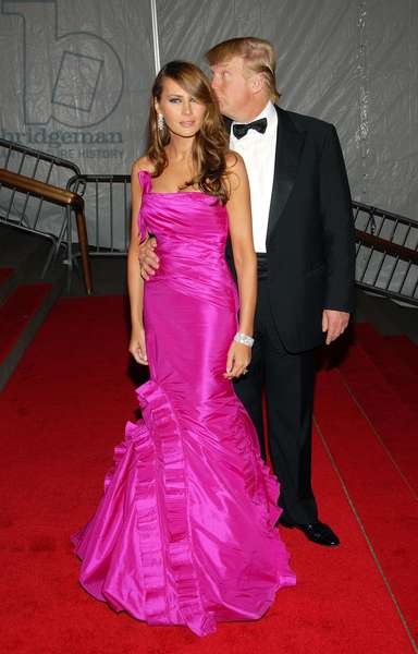 Melania Trump, Donald Trump at arrivals for Part 3 - Annual Opening Night Gala of Superheroes: Fashion and Fantasy, Metropolitan Museum of Art Costume Institute, New York, NY, May 05, 2008. Photo by: Desiree Navarro/Everett Collection