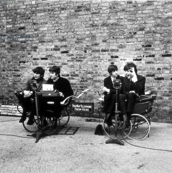 A HARD DAY'S NIGHT, George Harrison, John Lennon, Ringo Starr, Paul McCartney, 1964.: A HARD DAY'S NIGHT, George Harrison, John Lennon, Ringo Starr, Paul McCartney, 1964.