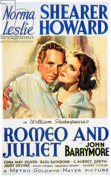 ROMEO AND JULIET, from left: Leslie Howard, Norma Shearer, 1936.