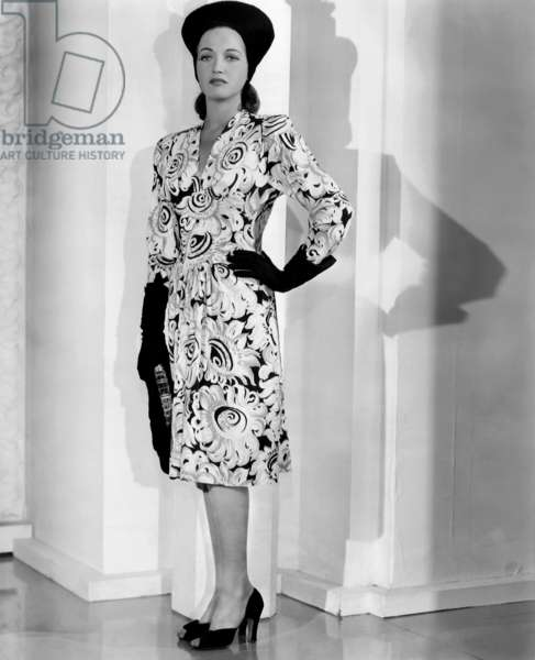 Dorothy Lamour, in a dress by Edith Head, 1942