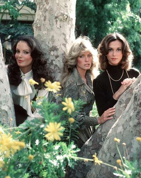 CHARLIE'S ANGELS, Jaclyn Smith, Farrah Fawcett, Kate Jackson, 1976-81.