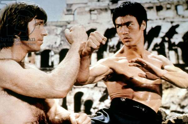 RETURN OF THE DRAGON, Chuck Norris, Bruce Lee, 1972