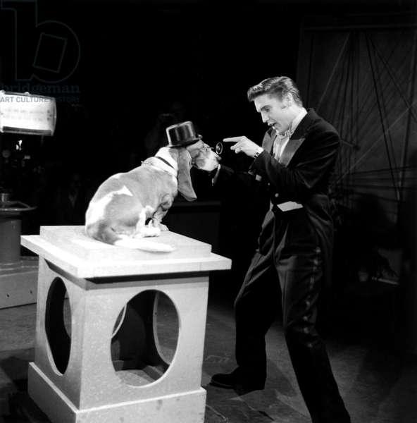 STEVE ALLEN SHOW, 1956-61, Elvis Presley, among Elvis' first TV appearances in singing 'Hound Dog', 1956