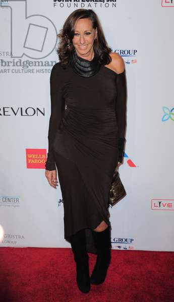 Donna Karan at arrivals for Elton John AIDS Foundation's 12th Annual 'An Enduring Vision' Benefit, Cipriani Wall Street, New York, NY October 15, 2013. Photo By: Gregorio T. Binuya/Everett Collection