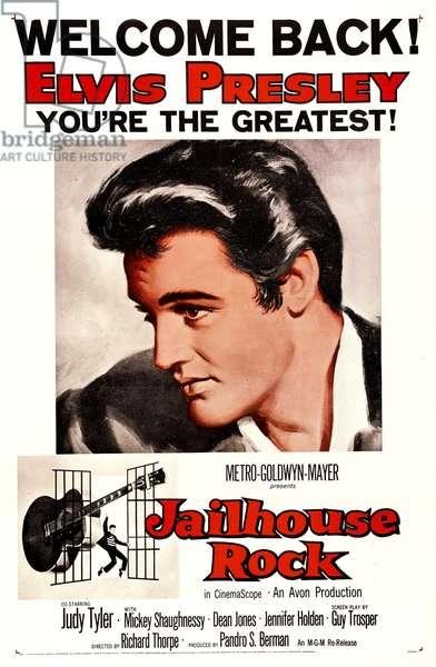 JAILHOUSE ROCK, poster art, Elvis Presley, 1957