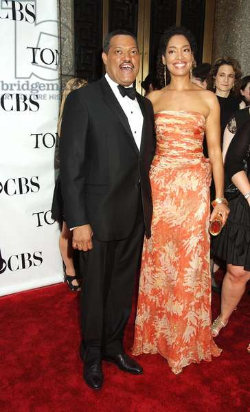 Laurence Fishburne, Gina Torres at arrivals for ARRIVALS - American Theatre Wing's 2008 Tony Awards, Radio City Music Hall, New York, NY, June 15, 2008. Photo by: Rob Rich/Everett Collection