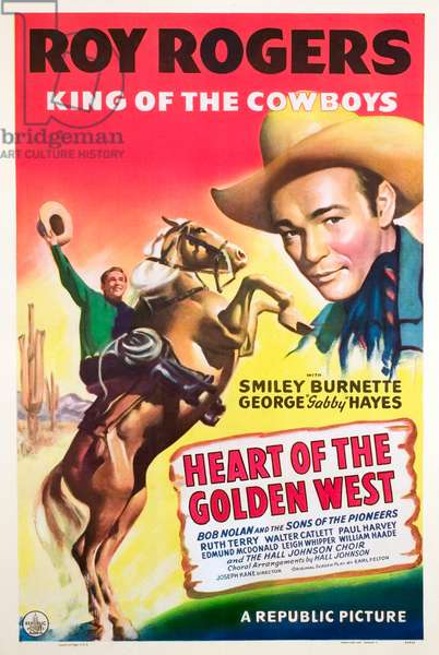 Heart of the golden west: HEART OF THE GOLDEN WEST, Roy Rogers, 1942.