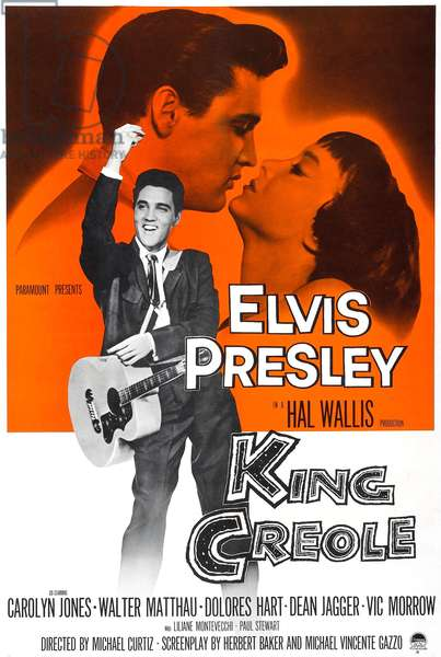 KING CREOLE, Elvis Presley, Carolyn Jones, 1958