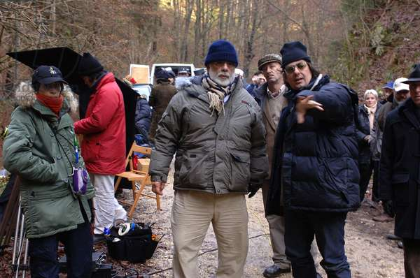 YOUTH WITHOUT YOUTH, director Francis Ford Coppola (center), on set, 2007. ©Sony Pictures Classics/courtesy Everett Collection