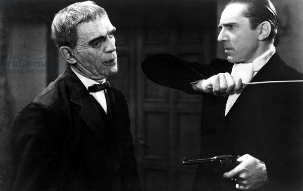 THE RAVEN, Boris Karloff, Bela Lugosi, 1935