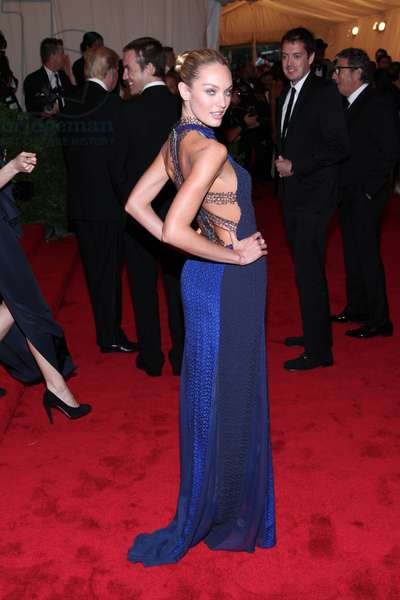 Candice Swanepoel (wearing a Rag & Bone gown) at arrivals for Metropolitan Museum of Art's 2012 Costume Institute Gala Benefit - Schiaparelli and Prada: Impossible Conversations - Part 8, Metropolitan Museum of Art, New York, NY May 7, 2012. Photo By: Andres Otero/Everett Collection