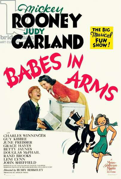 Place au rythme: BABES IN ARMS, Mickey Rooney, Judy Garland, 1939.