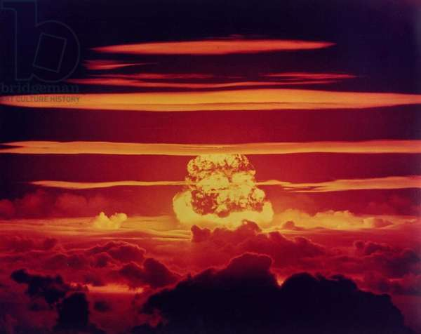 Operation Redwing: The DAKOTA Shot, was a 1.1 megaton hydrogen bomb. Enewetak Atoll on June 25, 1956.