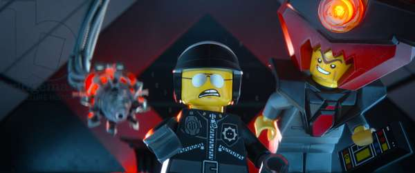 THE LEGO MOVIE, Bad Cop/Good Cop (voice: Liam Neeson), President Business (voice: Will Ferrell), 2014. ©Warner Bros. Pictures/courtesy Everett Collection