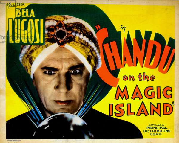 CHANDU ON THE MAGIC ISLAND, US poster, Bela Lugosi, 1935
