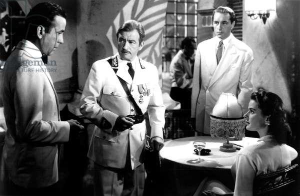 Casablanca: CASABLANCA, Humphrey Bogart, Claude Rains, Paul Henreid, Ingrid Bergman, 1942.