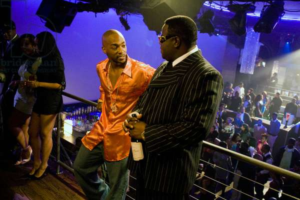 NOTORIOUS, from left: Anthony Mackie as Tupac Shakur, Jamal Woolard as Notorious B.I.G., 2009. ©Fox Searchlight/courtesy Everett Collection