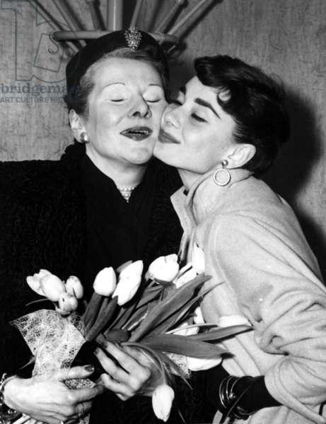 Audrey Hepburn et sa mere Baroness Ella van Heemstra