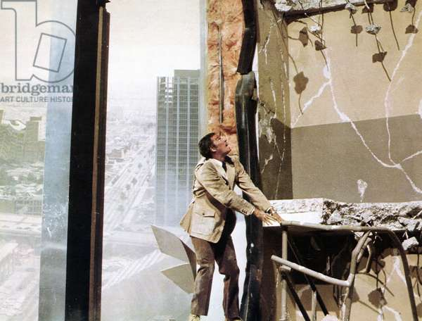 EARTHQUAKE, Charlton Heston, 1974.""