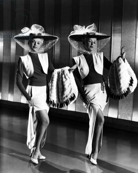 The Dolly Sisters: THE DOLLY SISTERS, June Haver, Betty Grable, (in costumes by Orry-Kelly), 1945, TM and copyright ©20th Century Fox Film Corp. All rights reserved / Courtesy: Everett Collection.