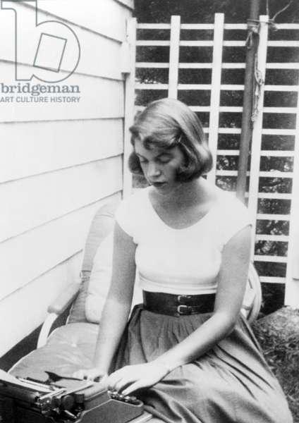 Sylvia Plath, author, 1954.