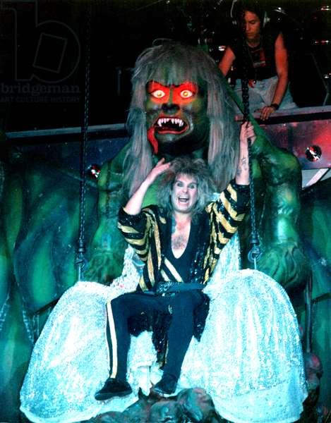 Ozzy Osbourne, in concert, circa 1990s.