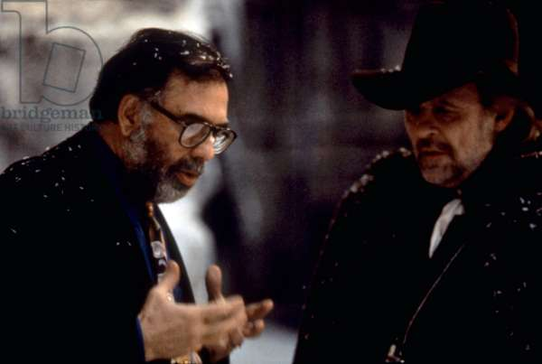 BRAM STOKER'S DRACULA, Director Francis Ford Coppola, Anthony Hopkins, on set, 1992. ©Columbia Pictures/courtesy Everett Collection