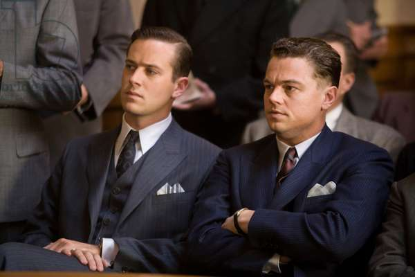 J.Edgar: J. EDGAR, from left: Armie Hammer as Clyde Tolson, Leonardo DiCaprio as J. Edgar Hoover, 2011. ph: Keith Bernstein/©Warner Bros./courtesy Everett Collection