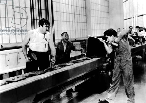 MODERN TIMES, Tiny Sandford, Charlie Chaplin, 1936