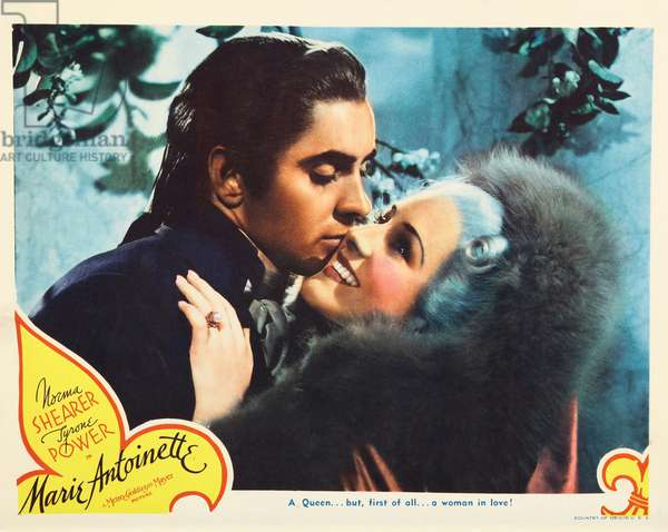 MARIE ANTOINETTE, US lobbycard, from left: Tyrone Power, Norma Shearer, 1938.