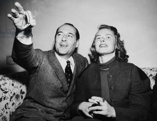 From left: Roberto Rossellini, Ingrid Bergman, early 1950s
