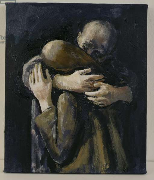 Grieving, 1996 (oil on canvas)