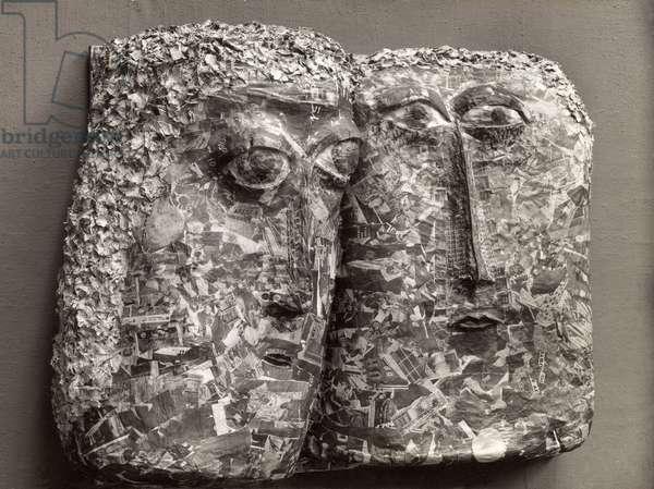 Liverpool Heads, 1961 (papier mache)