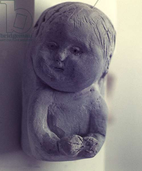 Relief of a Baby, 1968 (clay)