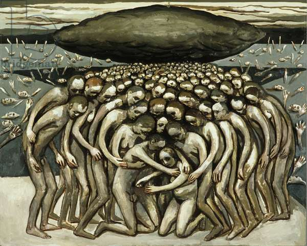 All the People - Oppressed by Black Cloud, 1982 (oil on canvas)