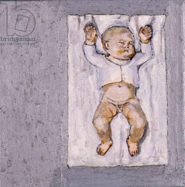 Baby Sleeping 2, 2007 (oil on canvas)
