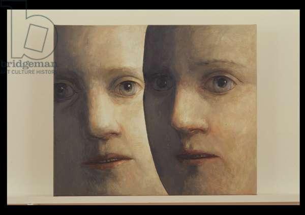 Double Portrait No: 2, 1998 (oil on canvas)