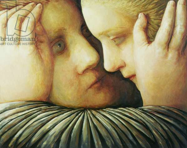 Two Women No: 2, 1997 (oil on canvas)