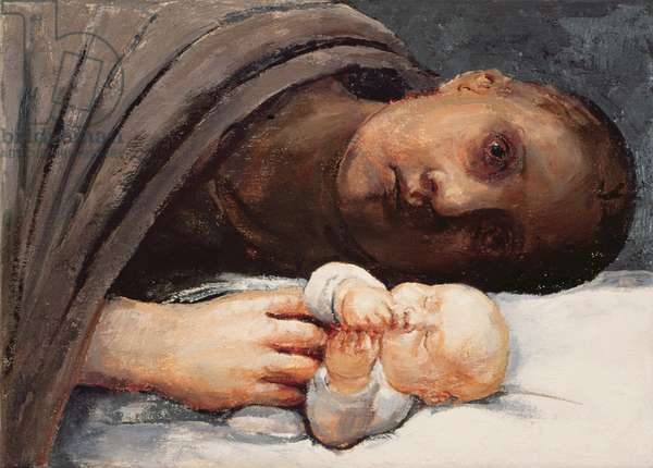 Mother and Child Resting, 1996 (oil on canvas)